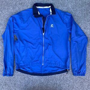Cannondale Cycling Jacket Blue Size Large Windbreaker Long Sleeve Reflective HPX
