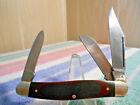 VINTAGE WESTERN USA STAINLESS W742 LARGE STOCKMAN POCKET KNIFE