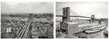 1903 1905 Brooklyn Bridge PHOTO Lot, New York City, East River, Manhattan 2 Pics