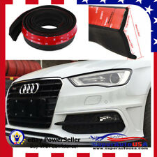 BALCK Effect  Fit Bumper Lip Splitter Chin Protector For AUDI A4 A3 A5 A6 A7 A8