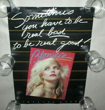 """Blondie Debbie Harry Very Rare Promo Lester Bangs Poster 16"""" x 22"""" Excellent+"""