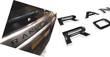 2x Range Rover Sport 2014 Look Black Lettering Raised Chrome Edges Letters Badge