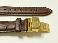 Brown Seamaster Speedmaster + Gift New Watch Strap Leather 20mm Omega