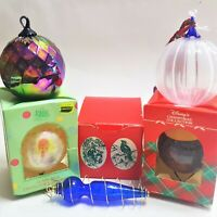 VINTAGE CHRISTMAS PRECIOUS MOMENTS DISNEY NWF GLASS ORNAMENTS LARGE BALLS TREE