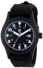 Smith & Wesson Military Watch w/Multi Canvas Strap Black SWW-1464-BK