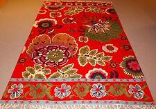 Large Persian Kashmir Handmade Wool Rug Carpet Runner,Oriental Antique Decor Red