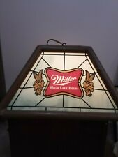 Vintage 80s Miller High Life Beer Lady On The Moon Pool Table Poker Light