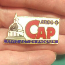 ARCO CAP pin - ARCO spark pin - Civic Action Program - Red White and Blue