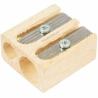 Lyra Two Hole Wooden Pencil Sharpener 8mm - 11mm Twin Double Groove Ferby
