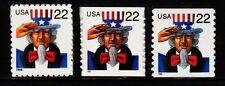 #3259, #3263 & 3353 Uncle Sam set/3 - MNH