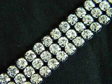 "3 Row Crystal Rhinestone Banding Trim Silver ~9/16""~BM"