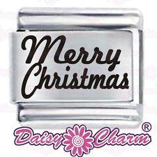 MERRY CHRISTMAS * Daisy Charm Fits Nomination Classic Italian Charms Bracelet