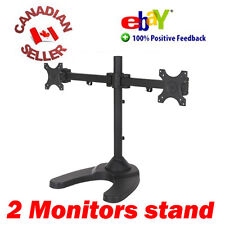 "Dual LCD Monitor Desk Stand with heavy base 13 to 24"" Monitors 18 19 20 21 22 23"