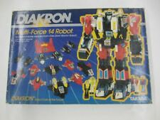 Vintage 1983 Takara DIAKRON Diaclone Multi-force 14 #001 Robot Combiner COMPLETE