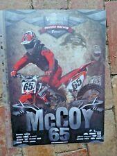MOTO CROSS DAN MCCOY #65 POSTER A3 SIZE WOODSTOCK BOURBON HONDA RACING