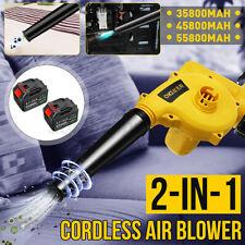 2-IN-1 Cordless Electric Air Blower Handheld Vacuum Blow Leaf Cleaner 2x