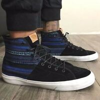 VANS Sk8 Hi Decon SPT CA (Italian Weave) Blue/Black Men's High Top Skate Shoes