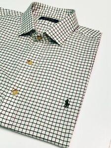 GENUINE RALPH LAUREN MEN's 100% COTTON SHIRT IN CREAM/ WINE RRP. £95