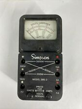 Rare Vintage Simpson Model 390 2 Wattmeter