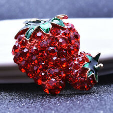 Fashion Jewelry Women Cloth Accessories Creative Strawberry Shape Metal Brooch