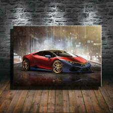 Collect Art Print Oil Painting on Canvas Wall ,Lamborghini-Huracan-Wonder-Woman