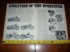 HARLEY DAVIDSON -EVOLUTION OF THE SPORTSTER-