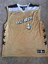 ADIDAS Washington Wizards Antawan Jamison Gold Alternate Third Jersey Sz XXL