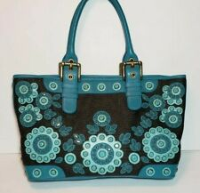 ISABELLA FIORE SET IN STONE TORI JEWEL EMBELLISHED FLORAL APPLIQUE HANDBAG $425