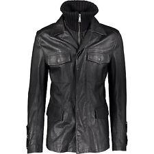 JOHN RICHMOND Leather Blazer/Jacket With Detachable Gilet IT50 M RRP £1670