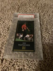 1998 CHAMPIONS OF GOLF Tiger Woods PSA 7 Graded rc MASTER COLLECTION ROOKIE