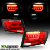 2008-2011 Subaru Impreza/WRX Sedan Red Clear LED Tube Tail Lights Brake Lamps