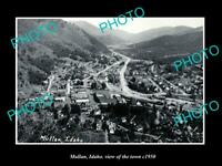 OLD POSTCARD SIZE PHOTO MULLAN IDAHO VIEW OF THE TOWN c1950 2