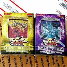 2 YUGIOH 5D's SPECIAL EDITION Crossroads of Chaos + Stardust Overdrive FREE SHIP