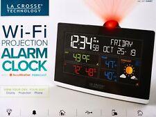 La Crosse Wi-Fi Projection Alarm Clock with AccuWeather Forecast