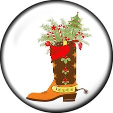 Snap button Christmas Boot Holiday 18mm Cabochon chunk