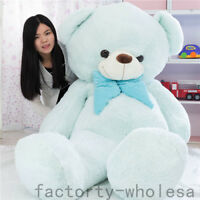 78'' Giant Large Huge Teddy Bear Blue Plush Soft Toy Stuffed Doll Valentine Gift