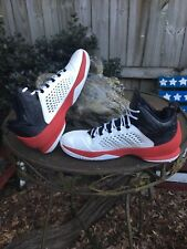Nike Air Jordan Melo M11, 716227-101, White/Black/Gym Red, Men's Size 13