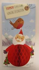 Christmas Hanging Santa Paper Card Decoration Freepost