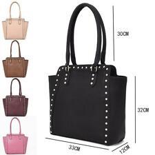 Women's Designer Style PU Leather Tote Shopper Handbag
