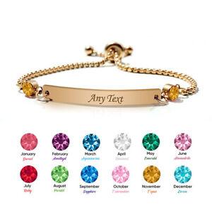 Personalised Birthstone Bracelet Gift for Her Friendship Mum Bridesmaid Auntie