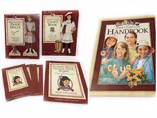 VTG Amercian Girl Samantha Books Handbook Paper Dolls Craft Theatre Set 1997