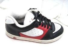 `es white red black skateboarding mens 8.5 9.5M skate sneakers shoes 10-03 NRT