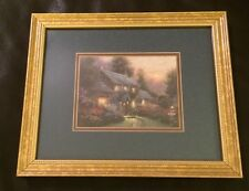 Thomas Kinkade Accent Print Julianne's Cottage with COA, Framed & Matted