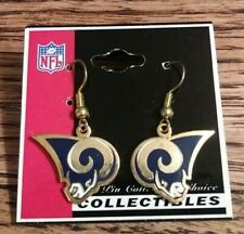 Peter David Collectible Nfl Football St. Louis Rams Team Logo Earrings New A