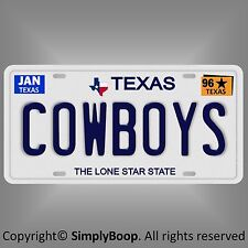 Dallas Cowboys NFL Football Team TX 1996 Prop Replica Aluminum License Plate Tag