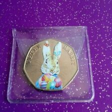CIRCULATED EASTER COLOURED 2016 PETER RABBIT 50P COIN CIRCULATED
