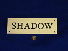 Stable Name Plate Brass 200mm x 50mm