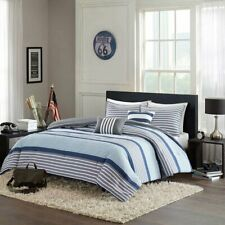 Intelligent Design Paul 4 Piece Comforter Set, Twin/Twin X-Large, Blue