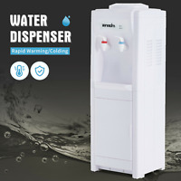 5 Gallon Top Loading Water Cooler Dispenser Electric Hot&Cold w/ Storage Cabinet