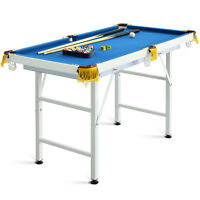 """47"""" Folding Billiard Table Pool Game Table for Kids w/ Cues & Chalk & Brush"""